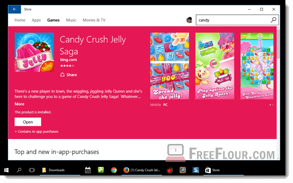 Candy Crush Jelly Saga pc download windows 10 store