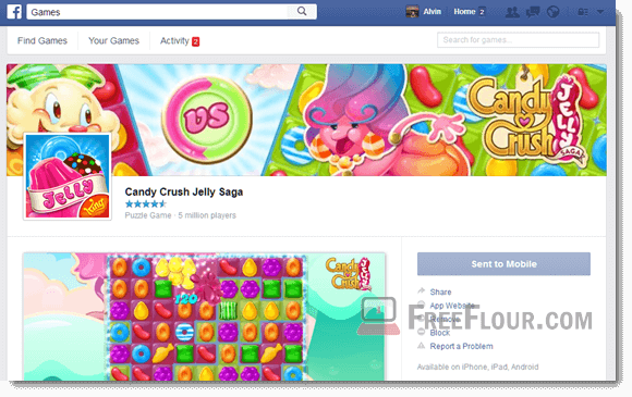 Candy Crush Jelly Saga pc facebook download