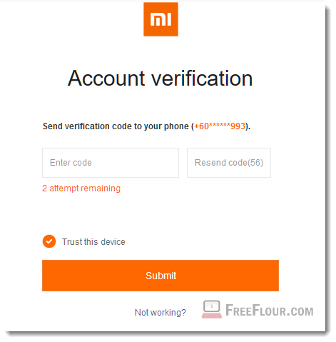 Can't Receive Mi Cloud Account Verification Code Xiaomi