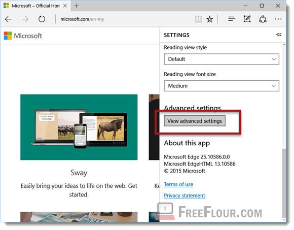 Change Microsoft Edge Default Search Engine to Google