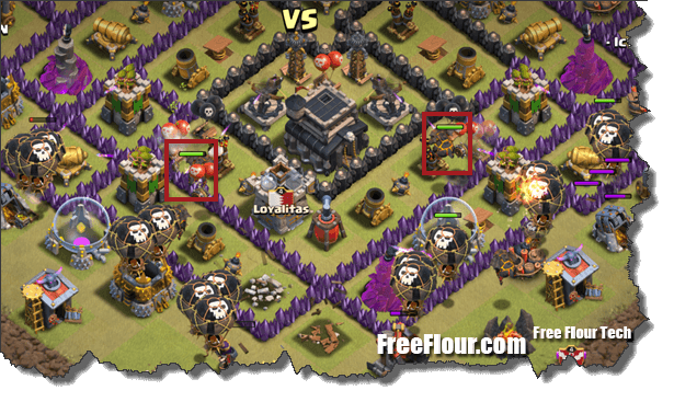 CoC clan war Attack Strategy LavaLoonion QuatroLavaloonion