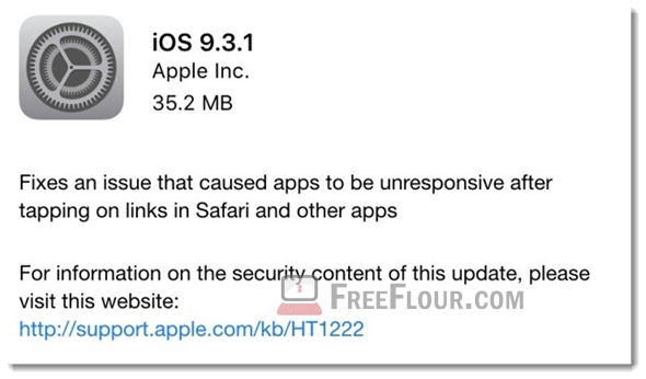 Download iOS 9.3.1 IPSW links