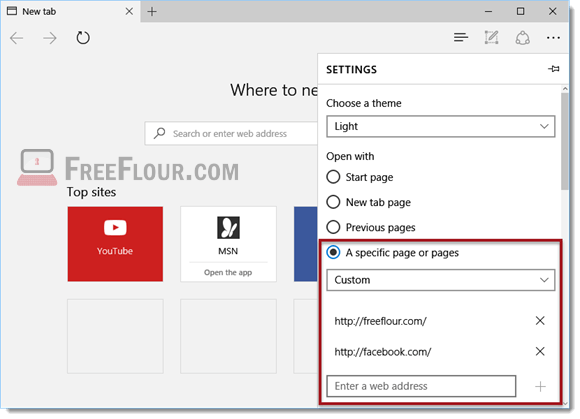 How to Change Microsoft Edge Home Page multiple tabs