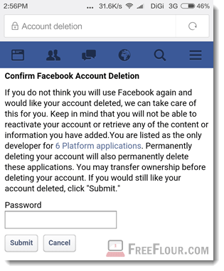 How to Delete Facebook Account Permanently on Mobile Phone App