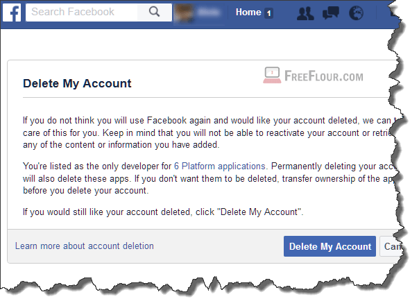 How to delete facebook account permanently on phone app mobile ccuart