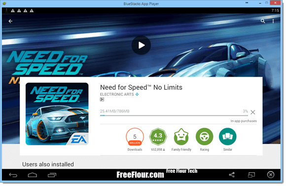 Need for Speed No Limits For PC Free Download via Bluestacks