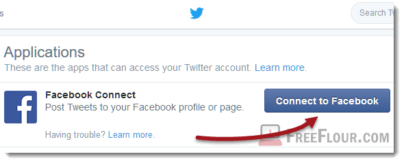 Twitter login with facebook connect