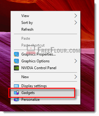 add desktop gadget cpu network meter windows 10