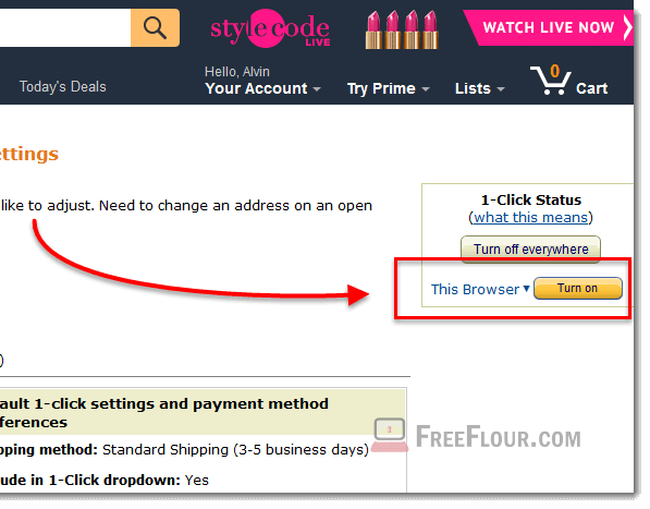 amazon order pending 1 click purchase