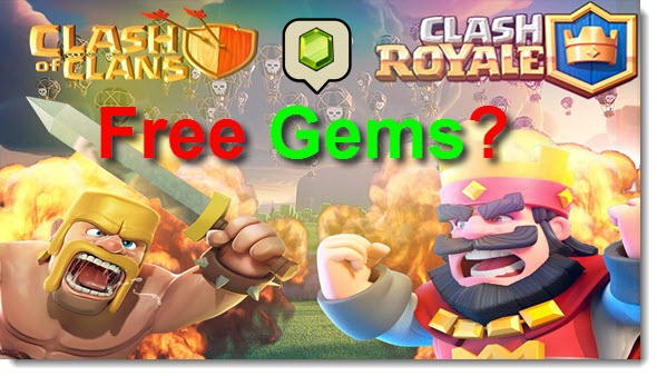 clash of clans clash royale free gems
