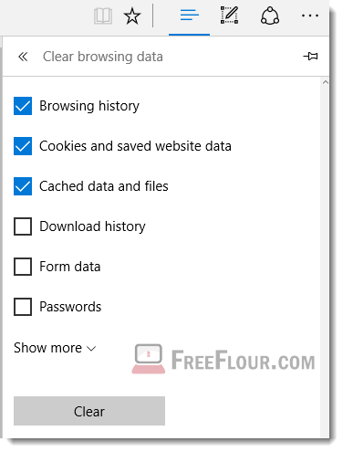 clear browsing data history microsoft edge