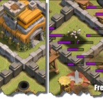 Clash of Clans Attack Strategy TH7 Dragon Lightning Hog