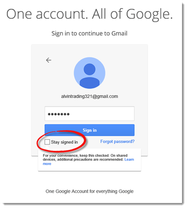 gmail sign in stay signed in
