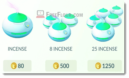 how much pokemon go incense price
