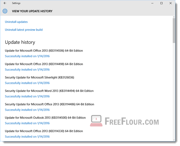 how to clear windows update history windows 10