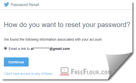 how to reset twitter account password username