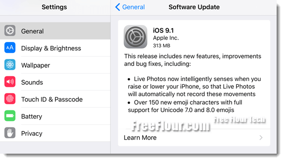 iOS 9.1 Download Link IPSW for iPhone iPad iPod Touch