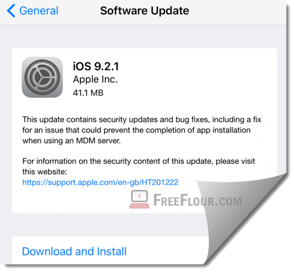 iOS 9.2.1 Download Link IPSW iPhone 6,6s Plus,5s,5c,5,iPad