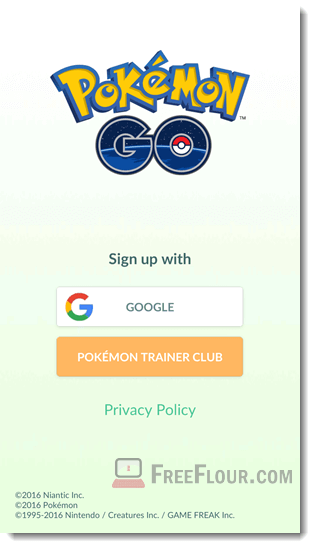 pokemon go logout sign in out