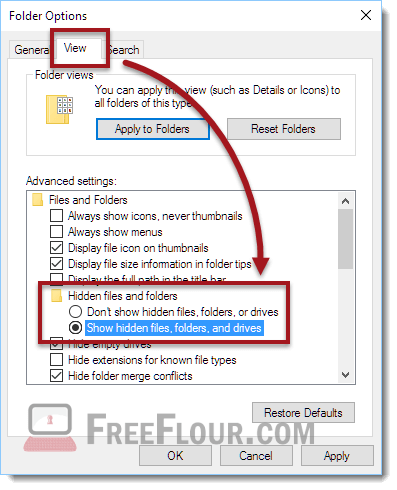 How to Show Hidden Files and Folders in Windows 10