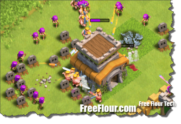 town hall sniping clash of clans