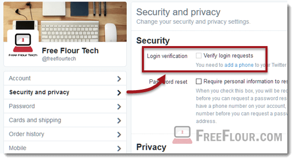 twitter.com login add a phone verification