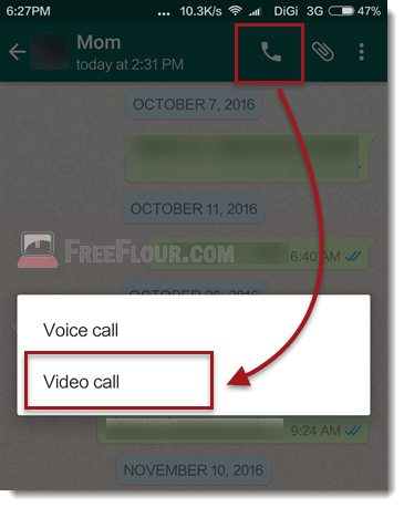 whatsapp video call ios iphone android web