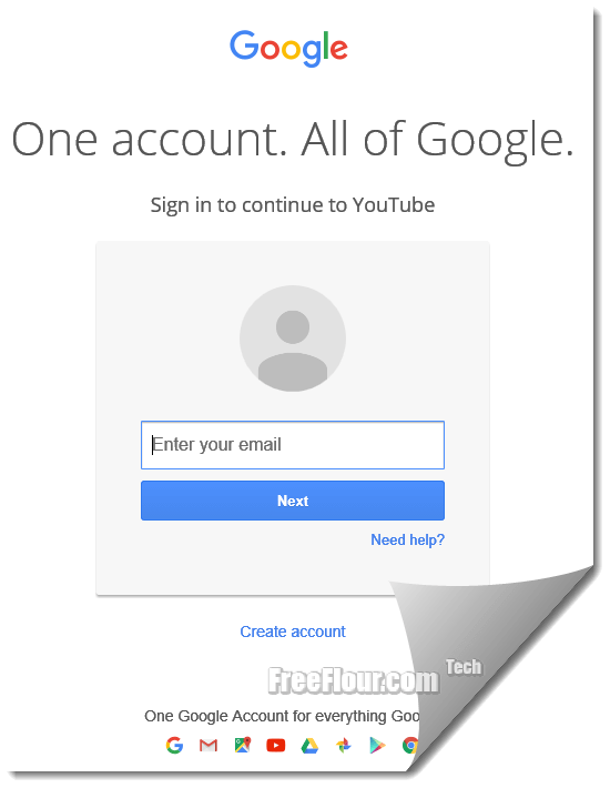 youtube sign in account page